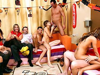 Teens having orgy on party
