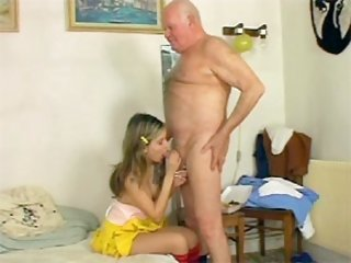 Hungry grandpa fucking girl
